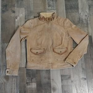 Lauren Jeans CO Ralph Lauren Brown Denim Jacket